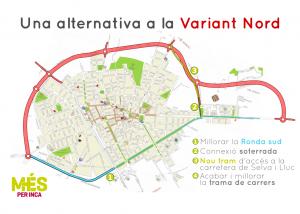 MÉS sol·licita la retirada del projecte de la Variant Nord perquè es puguin estudiar alternatives més eficients i menys impactants