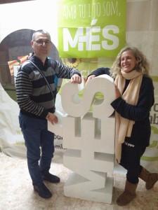 Alice Weber i Miquel Pieras, nous coportaveus de MÉS per Inca