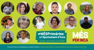 Proclamades les candidatures de MÉS per Inca