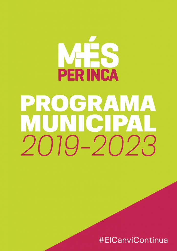 Portada del programa municipal de MÉS per Inca