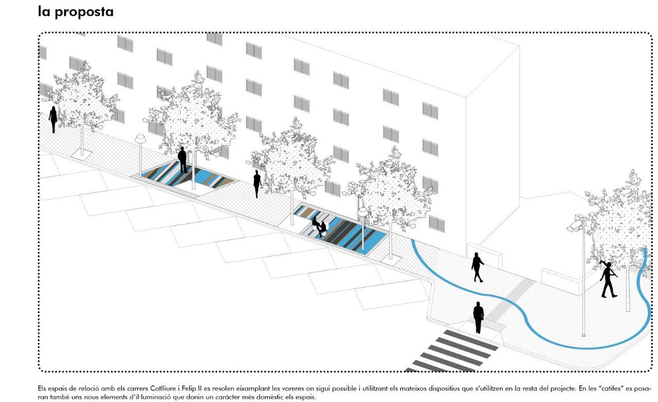 L'Ajuntament invertirà 760 mil euros en la millora de l'espai urbà públic dels habitatges socials del Camp Redó