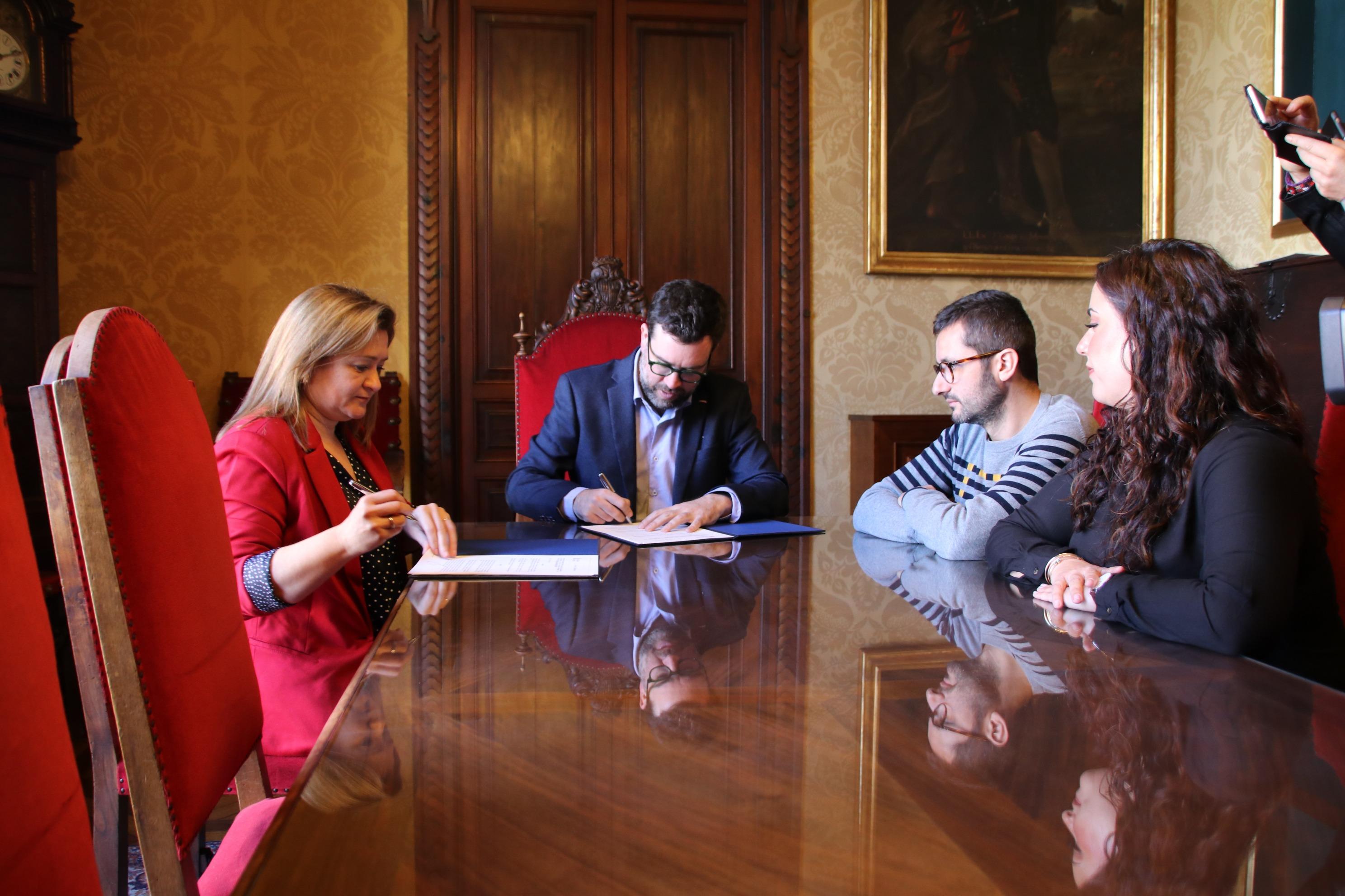 L'Ajuntament i el Consell signen un conveni de col·laboració per construir una senda ciclable d'accés a Son Espases